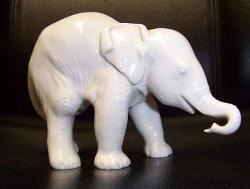 Slon v porcelánu