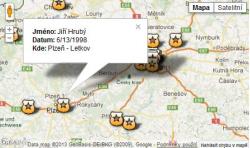 Mapa padlých policistů v projektu NEZAPOMENEME!