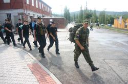 Policisté absolvovali vojenský výcvik