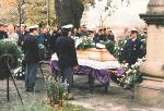 Pohřeb Pavla Šperlinga za účasti jeho kolegů
