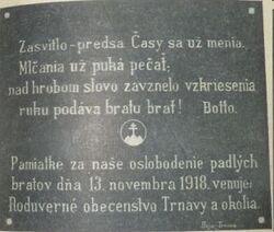 Český lev na pamáníku Žižkov.