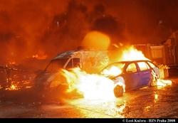 Požáry automobilů jsou častým důvodem k akci