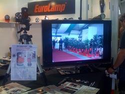 Svítilna firmy Eurolamp se zabudovanou kamerou