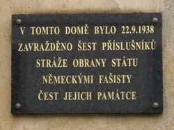Pamětní deska obětem liptaňského incidentu