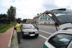 Společná kontrola českých a německých policistů v pohraničí