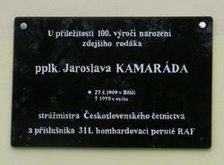 Pamětní deska Jaroslava Kamaráda