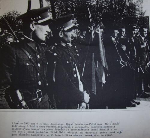 Osvobozování Horní Cerkve v roce 1945