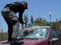 """Destrukční testy, probíhající u speciálních policejních složek v Mexiku. V kompletu s """"teleskopem"""" jde o velmi praktický """"vercajk"""", který, jak se ukázalo v testech, může významně pomoci i při nouzovém vyprošťování osob při autonehodách. Projít dokáže i odolnými skly nejmodernějších vozidel. Ta dnes mají až překvapivou rezistenci díky své tuhé konstrukci nebo vyztužení speciální folií."""