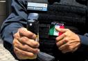 Tornádo při testech v Mexiku u Federální policie.