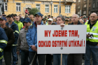 Demonstrace policistů, hasičů a zaměstnanců rozpočtové sféry